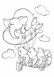Click To See Printable Version Of Three Hamsters Pedaling A Dirigeable Airship In The Sky With