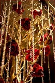 Red White And Gold Wedding Decorations
