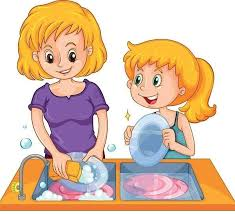 Wash The Dishes Clipart Letters Intended For Washing