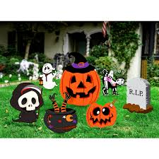 US 1821 36 OFFUNOMOR 7Pcs Halloween Yard Stakes Set Outdoor Lawn Decorations Garden Landscape Decoration Holiday Party Halloween Scary Itemsin