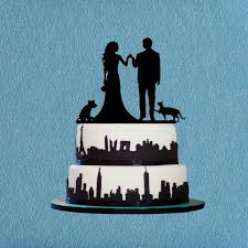 Bride And Groom Cake Toppercake Topper With Dog Catengagement Topperrustic Wedding Topperunqiue Toppers Cat