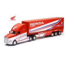 New Ray 1:32 Scale HRC Team Honda Race Truck (Kenworth T700) Toy ... Amazoncom 132nd New Ray Kenworth W900 Pot Belly Livestock Trailer Dcp 3987cab T880 Daycab Stampntoys Drake Z01382 Australian Kenworth C509 Sleeper Prime Mover Truck 132 Scale Diecast Lowboy Tractor Trailer With T700 Semi Truck Container 168 Toy For Showcase Miniatures Z 4021 Grapple Kit Kinsmart Die Cast Assorted Colours 143 Wlowboy Excavator D Nry15293 Mack Log Replica Flatbed Forklift Store