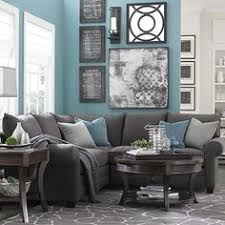Decoration Ideas Blue And Lighter Grays Charcoal Gray Sectional Sofa
