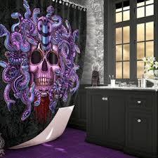 pastell duschvorhang medusa badezimmer dekor etsy