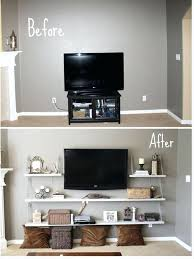 Wall Mounted Tv Decorating Ideas Simple That Are Borderline Crafty Pics Mount The