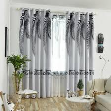 nordic stil vorhänge stoff backout schattierung vorhang für schlafzimmer wohnzimmer grün blatt fenster bildschirm sheer tüll vorhänge