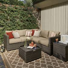Sears Grey Sectional Sofa by Grand Resort Monterey 5pc Sectional Set Neutral Outdoor Living