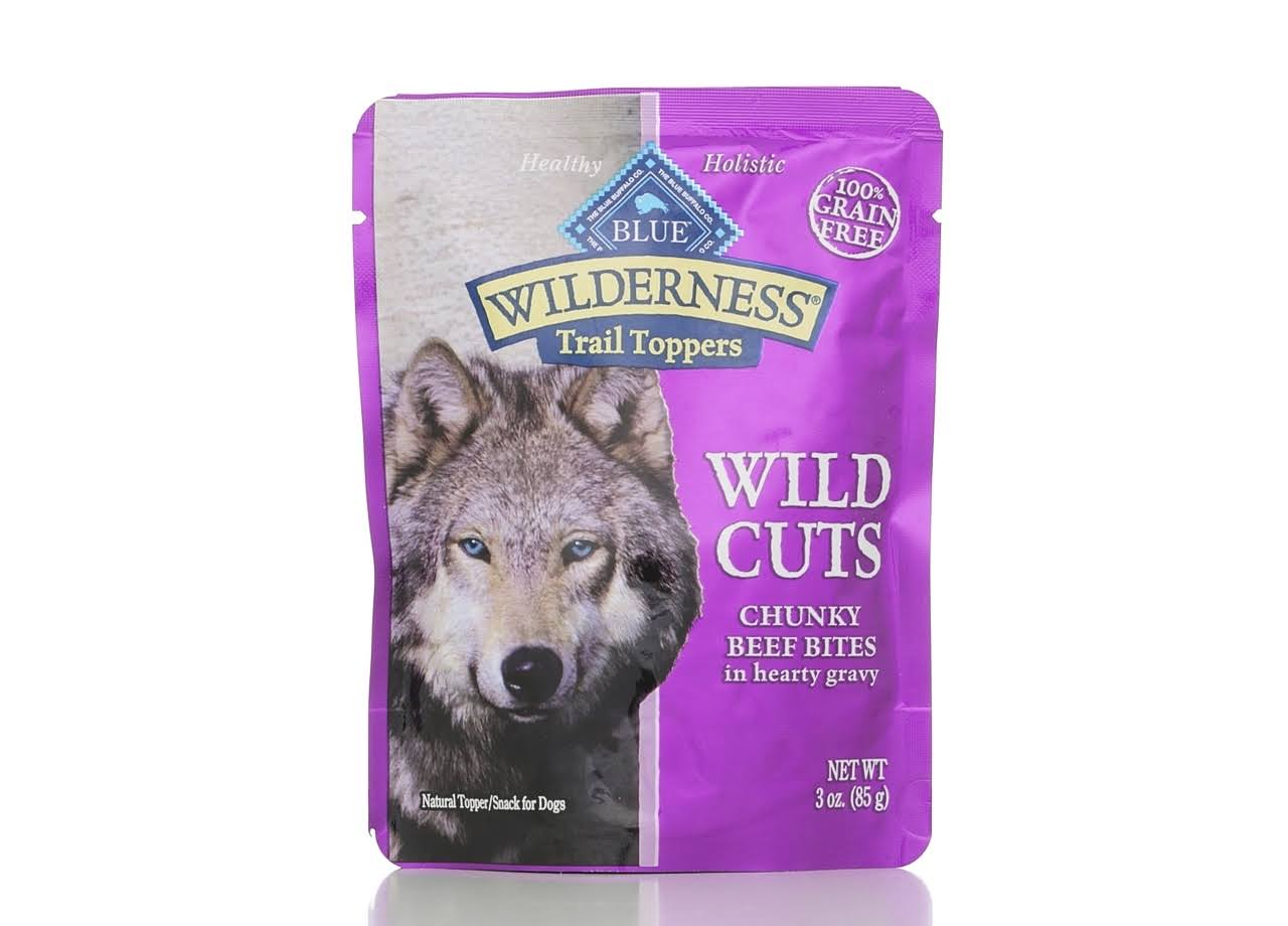 Blue Buffalo Wilderness Trail Toppers Dog Food - Wild Cuts, Beef Bites, 3oz