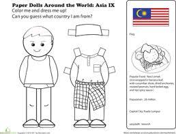 Paper Dolls Around The World Malaysia