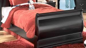 North Shore Sleigh Bedroom Set by Ashley Huey Vineyard 4 Piece Sleigh Bedroom Set In Black Youtube