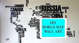 Diy World Map Wall Art