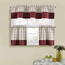Jcpenney Home Kitchen Curtains by Bistro Check Kitchen Curtains