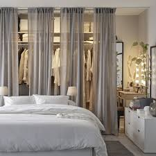 a bedroom with chic and accessible storage
