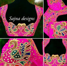 45 Lovely Pictures Of Hand Work Embroidery Designs Sarees