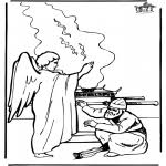 New Testament Bible Coloring Pages Free Of Zacharias And Elizabeth