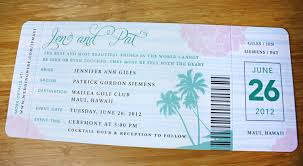 Plane Ticket Wedding Invitation Template Turquoise Blush Pink Gray Palm Tree Peony Boarding Pass