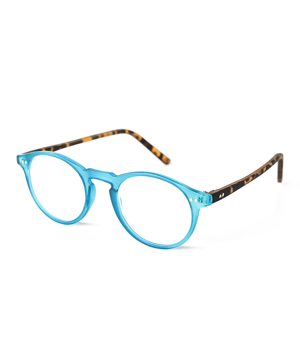 Optimum Optical Women's Aqua & Tortoise Brooklyn Reader 1.25