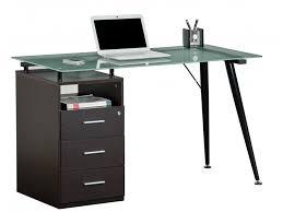 bureau verre trempé bureau informatique gray 1 niche 3 tiroirs verre trempé wengé