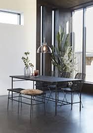 hübsch interior schwarzer esstisch ash myadele