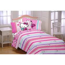 Walmart Bed Sheets by Hello Kitty Reversible Twin Bed In A Bag Bedding Set Walmart Com