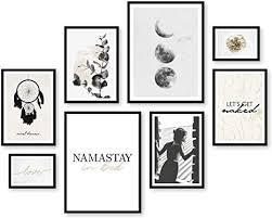 artfaves poster set sweet dreams deko schlafzimmer schwarz weiß gold 8 moderne wandbilder premium mix 30x40 21x30 13x18 bilder wohnung