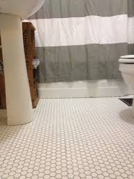 black white bathroom floor tile