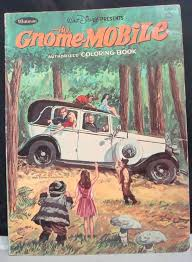 Vintage 1967 Walt Disneys The Gnome Mobile Coloring
