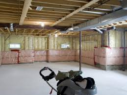 Exposed Basement Ceiling Lighting Ideas by Finishing The Unfinished Basement Ideas In Simple Way Basement