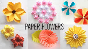 6 Easy Paper Flowers