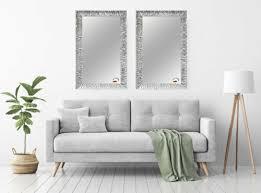 holz rahmen fix groß spiegel wandspiegel badspiegel modern