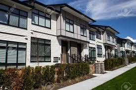 100 Concrete Residential Homes A Street Of Family Houses In Suburban Area With Concrete Side