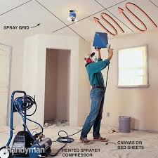 Patching Popcorn Ceiling Paint by Patch A Water Stained Ceiling Or Textured Ceiling Family Handyman