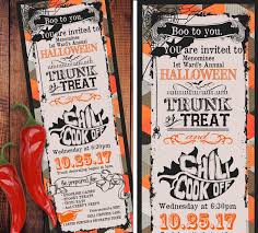 Free Halloween Potluck Invitation by Halloween Chili Cook Off Trunk Or Treat Invitations Ticket