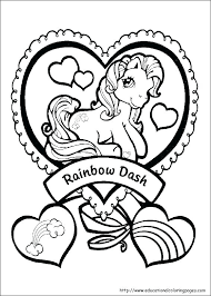 Magic Coloring Sheets Rainbow Dash Sheet My Little Pony Pages