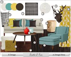 Yellow And Teal Living Room Dark Brown Red Furniture Blue De