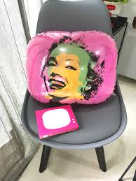 100 Pop Art Home Decor Marilyn Monroe Pink PVC Cushion