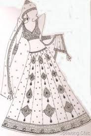Fashion News Big Wedding In Bigg Boss Design IllustrationsFashion SketchesSketch DesignFashion DrawingsIndian