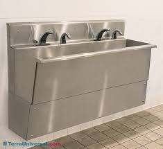 sink laboratory 2 faucets all 304 ss 48 w x 23 d wall mount