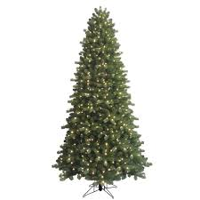 GE 9 Ft Indoor Pre Lit LED Energy Smart Spruce Artificial Christmas Tree With