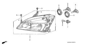 honda store 2004 accord headlight parts