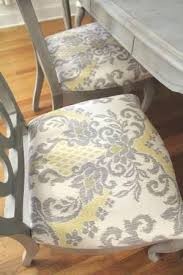 Fabric Upholstered Dining Chairs Grey Room With Fine Gray Ideas