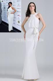 kim kardashian halter neck sleeveless long trumpet dress amber