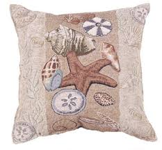 Decorative Couch Pillows Amazon by Amazon Com Seashell Collection Beachside Decorative Pillow 17