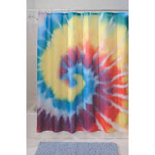 Trippy Bed Sets by Interdesign Bright Tie Dye Shower Curtain Walmart Com