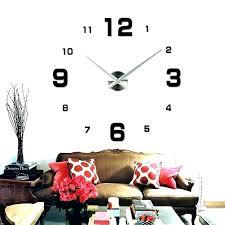Large Wall Clocks Contemporary Modern Clock Silver