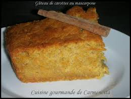 recette gâteau de carottes au mascarpone 750g