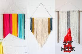 Art Week DIY This Yarn Wall Hanging Is Easy AF