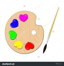 Png Image Gallery Yopriceville High Palette Art Pallet Clipart With Paint Brush