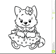 Cute Kitten Cat Coloring Pages Free Baby Kittens Page Color Full Size