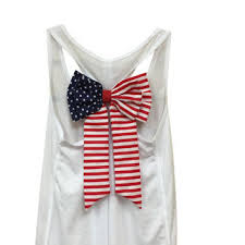MORE COLORS American Flag Bow Tank Top Fourth Of July 4th